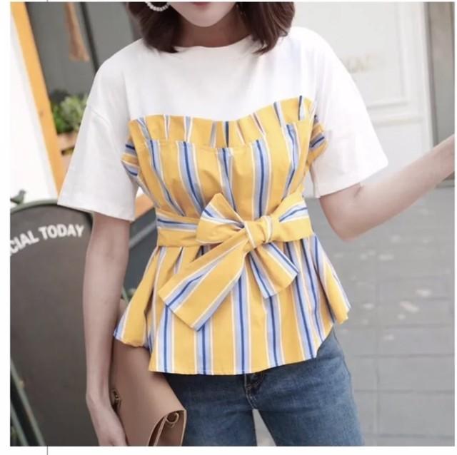 ◆予約◆ウエストリボンドッキングTシャツ