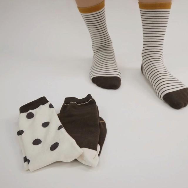 (即納) socks set B (マスタードラインセット) Peekaboo