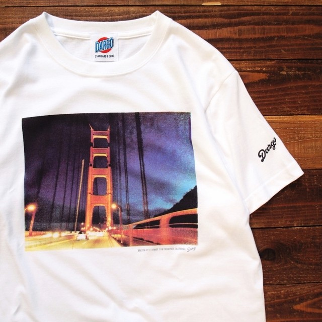 "【DARGO】""Golden Gate Bridge"" T-shirt (WHITE)"