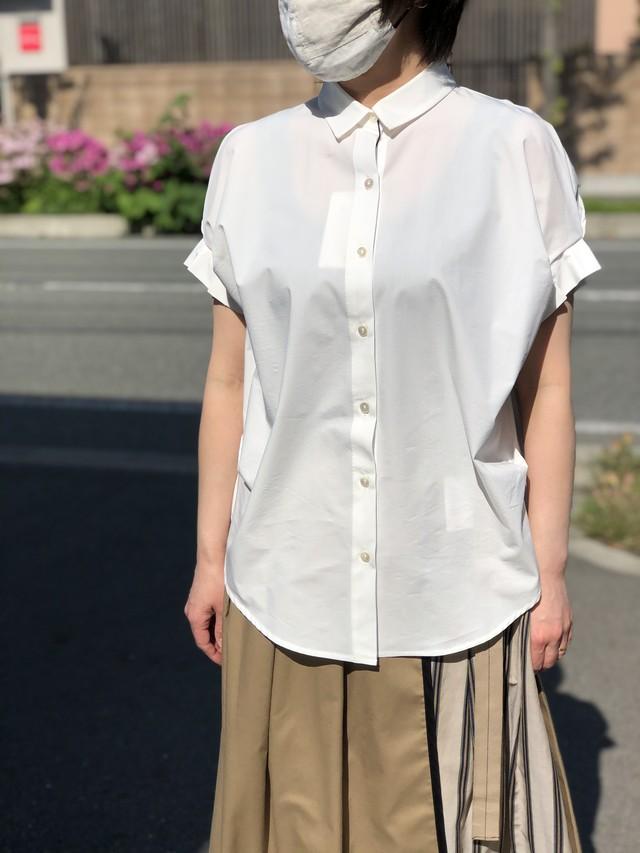 Lallia Mu/タックスリーブシャツ/2112569(ホワイト)
