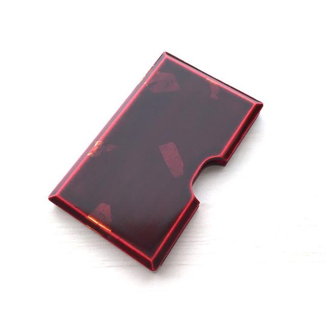 カード・名刺ケース 紅 銀箔