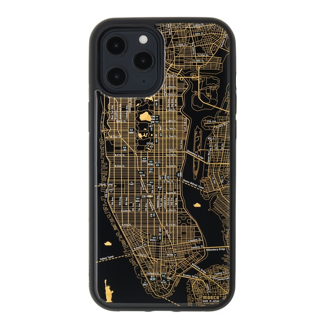 FLASH NY回路地図 iPhone 12 Pro Maxケース  黒【東京回路線図A5クリアファイルをプレゼント】
