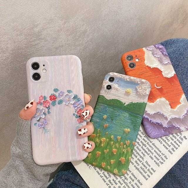 Art scenery flower iphone case