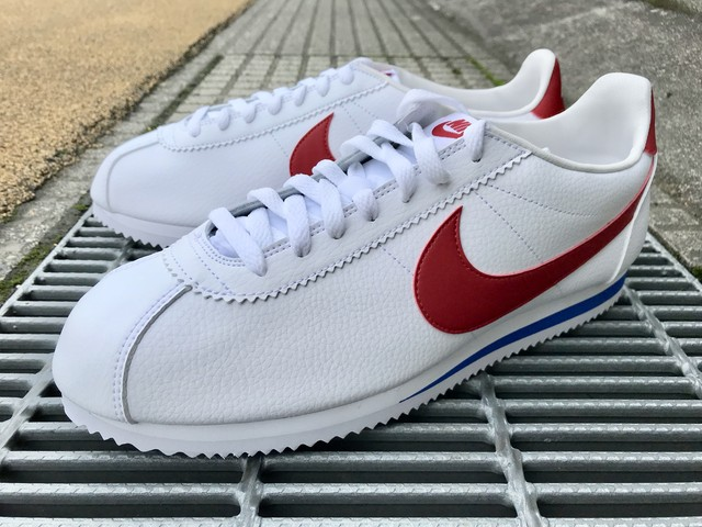 NIKE CLASSIC CORTEZ LEATHER  (WHITE/VARSITY RED)