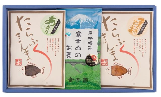 富士山茶と佃煮セット(富士山茶、たらふくまんま2種)