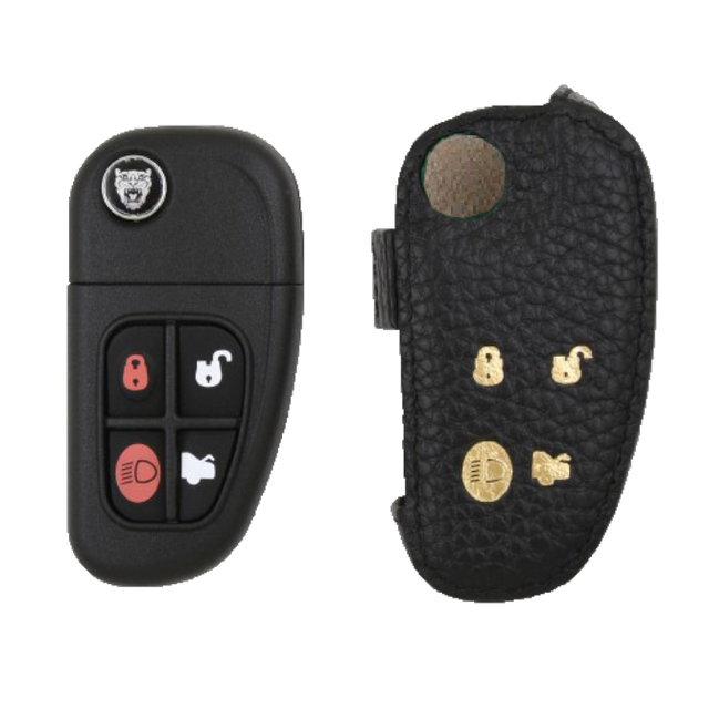 Jagurar 専用 TypeC Car Key Case Shrink Leather Case