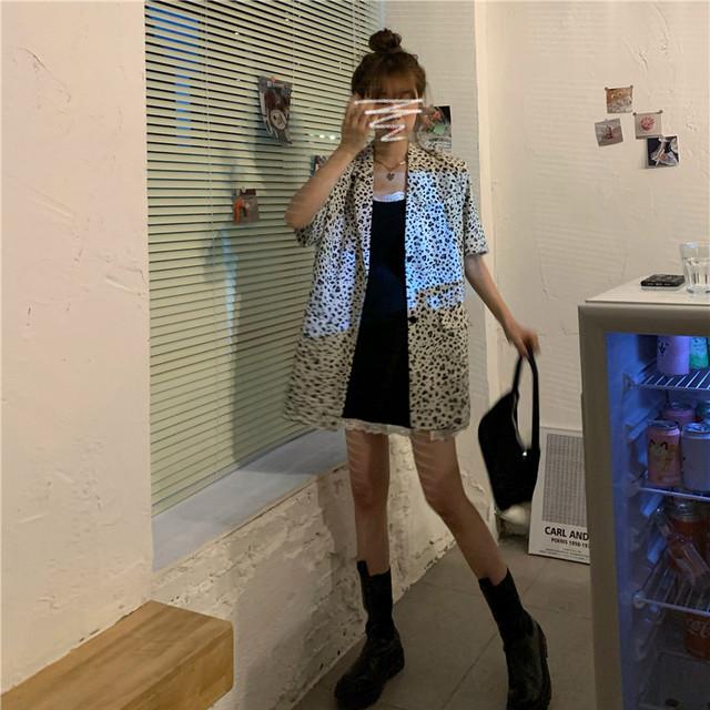 《即納》レオパードシャツ+キャミワンピース