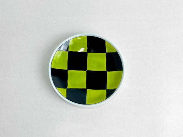 小皿(市松柄・緑)