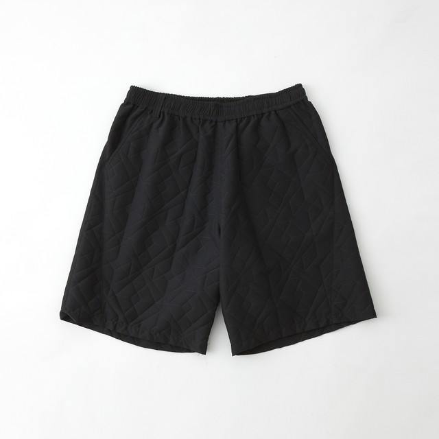 PARQUEST JACQUARD EASY SHORT PANTS - BLACK