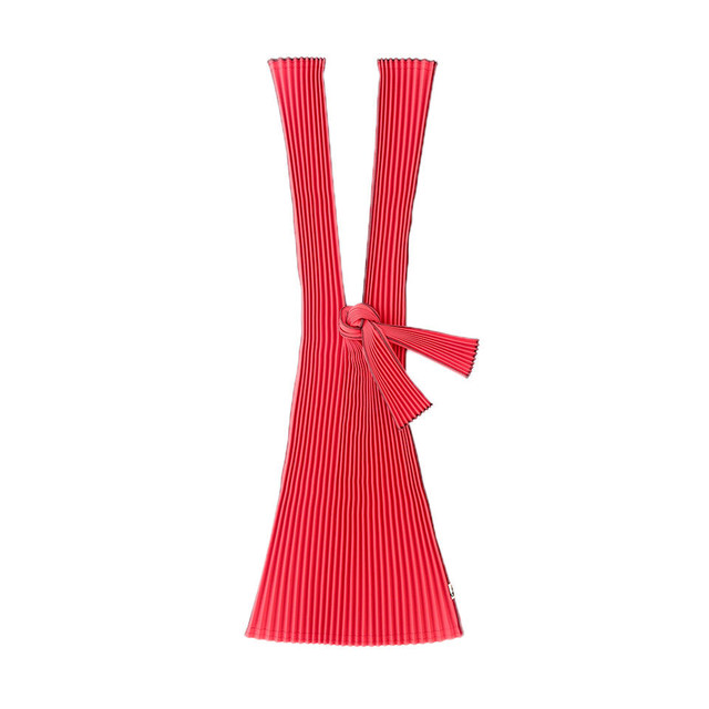 kna plus PLECO プリーツバッグ L エコバッグ 猩々緋 RED