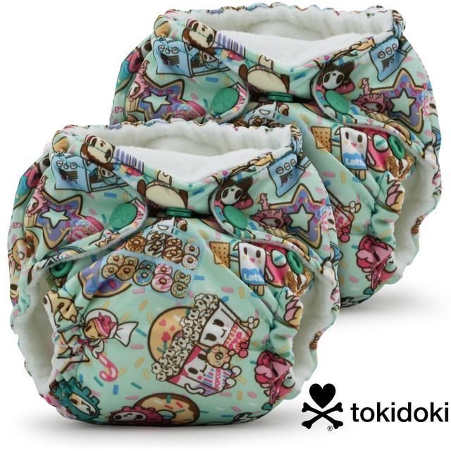 """kangacare Lil Joey Preemie & Newborn AIO Cloth Diaper(2pk)【designed by """"tokidoki""""】  カンガケア リルジョイ 布おむつ(2個セット)【tokidoki コラボデザイン】"""