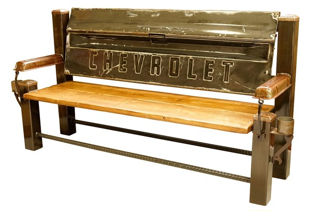 CHEVROLET FLEET BED TAILGATE BENCH 【Gray】