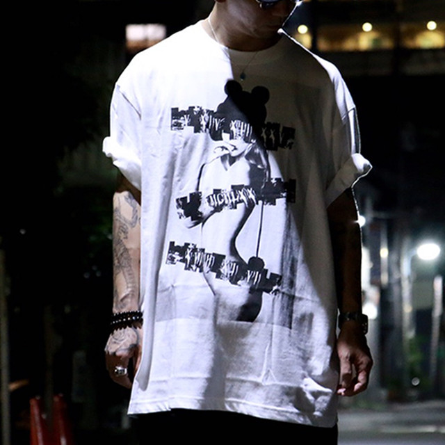 "5.6oz Graphic Print Cotton S/S TEE ""REIWA"""