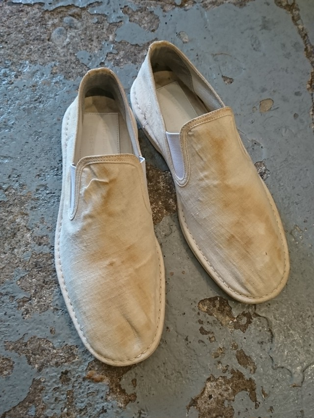 Y's for men CANVAS SLIP-ON SHOES
