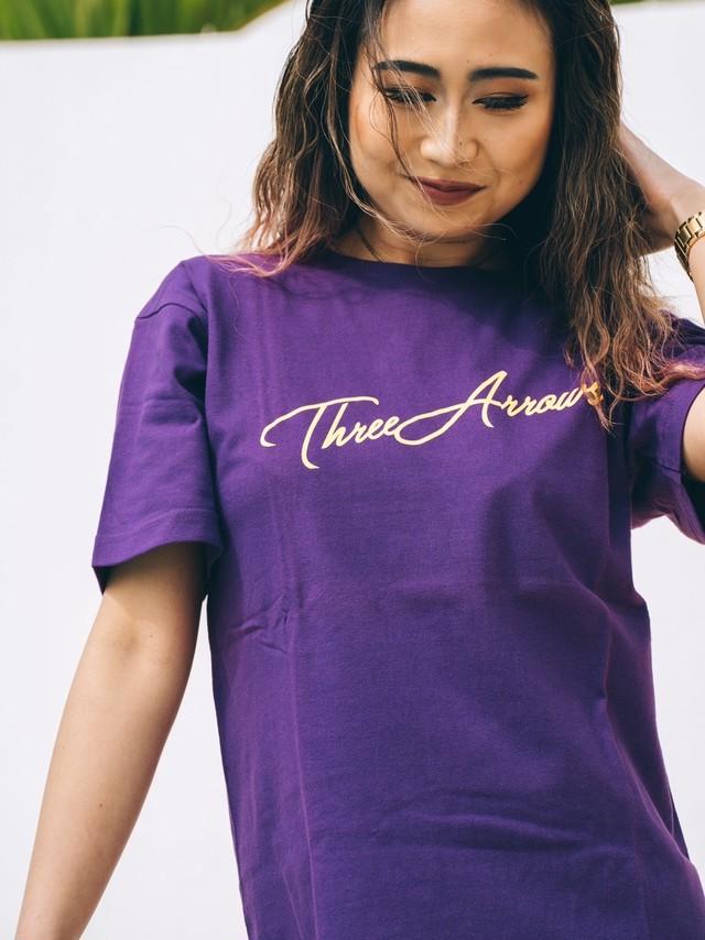 【4/7(WED)21:00販売開始】ThreeArrows S/S TEE(purple)