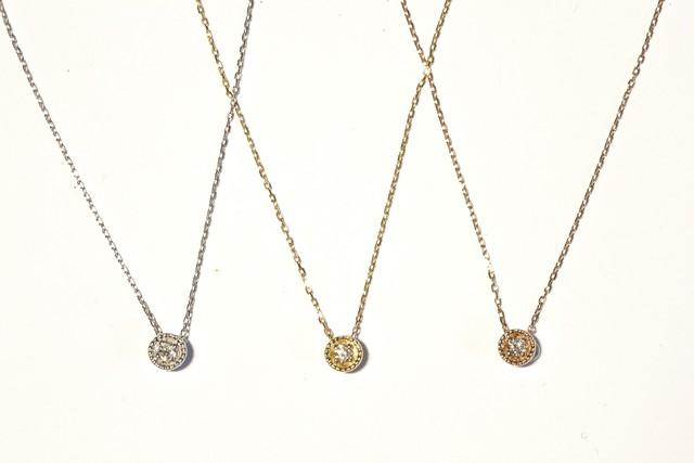 K18×ダイアモンド ペンダント