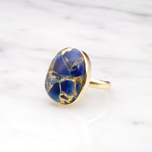 SINGLE BIG STONE RING GOLD 108