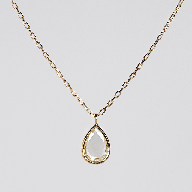 Rosecut diamond necklace / Drop