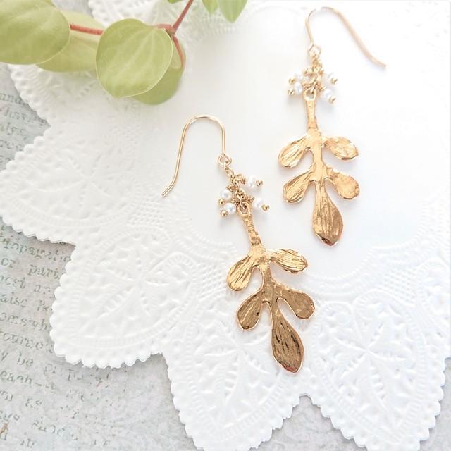 leaf pierce / earring  003