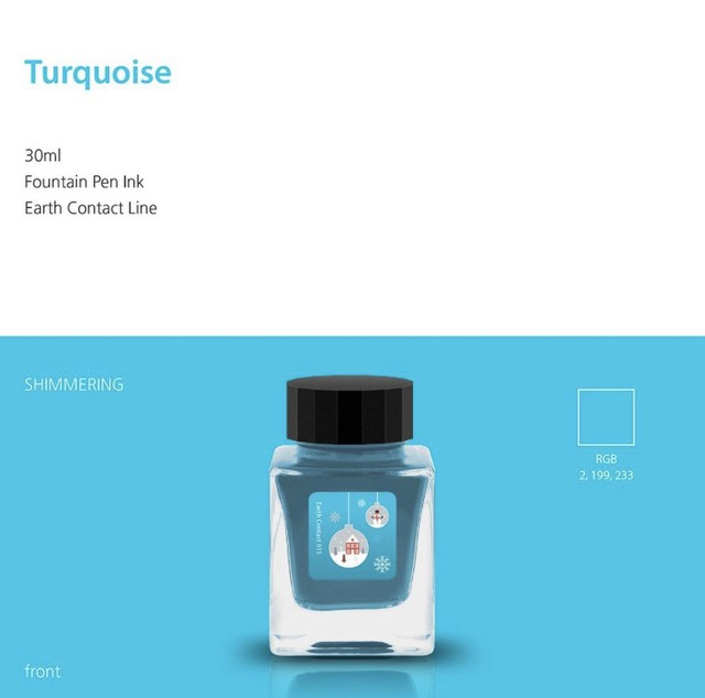 Earth contact line 015 turquoise