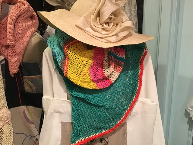 オリジナルニット ストール cotton