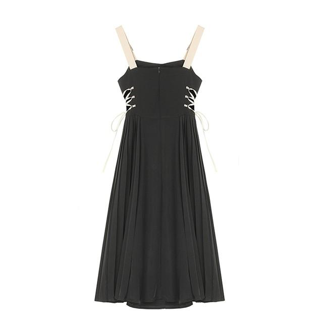 【即納】サイドリボンストラップドレス