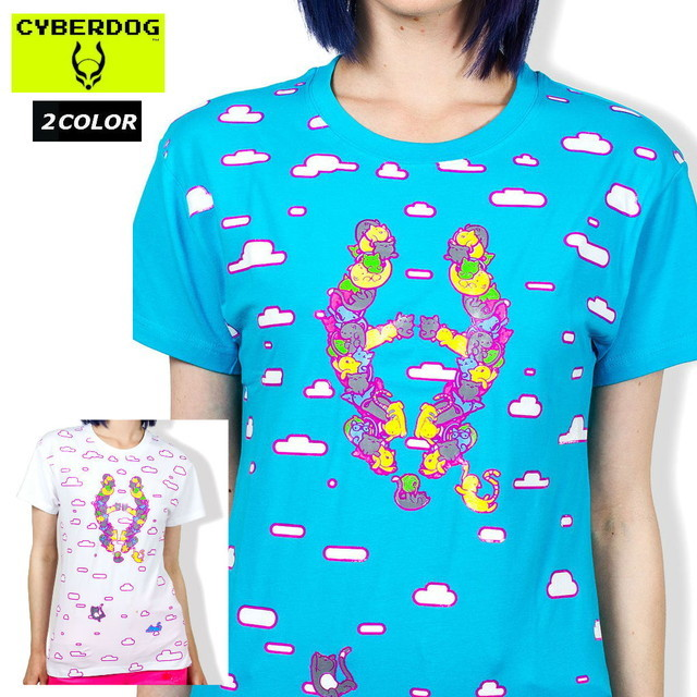 【CYBERDOG/サイバードッグ】GIRLS EASY TEE CAT LOGO