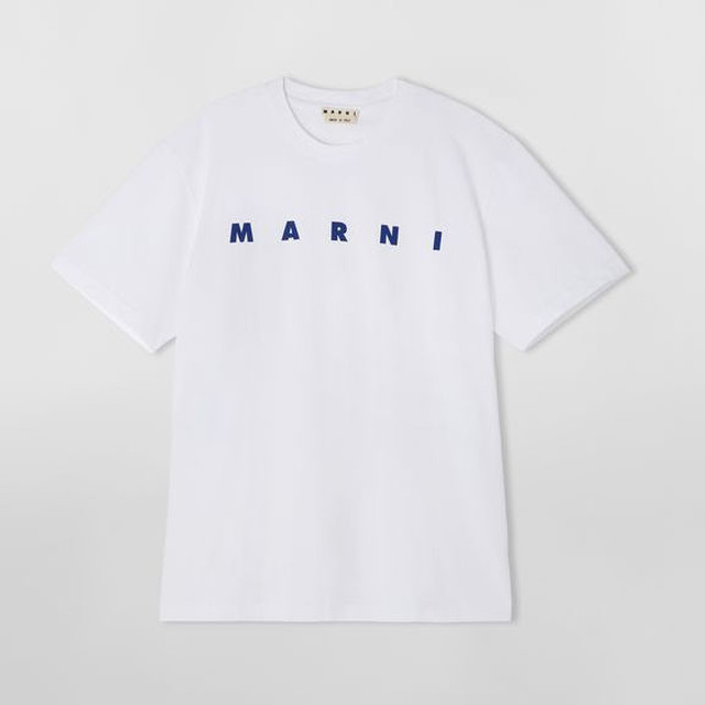 MARNI T-SHIRT IN LIGHT COTTON JERSEY WITH FRONT LOGO