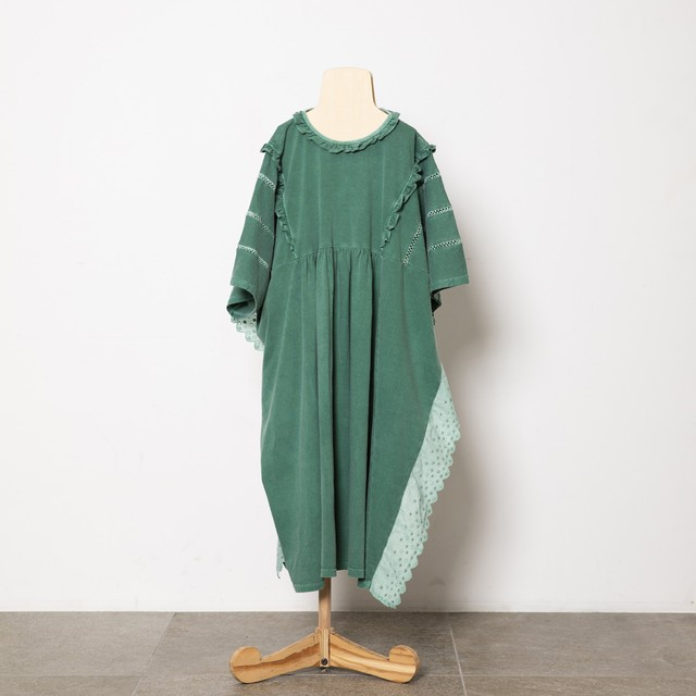 folk made fairy lace dress (green) M・Lサイズ F21SS-023