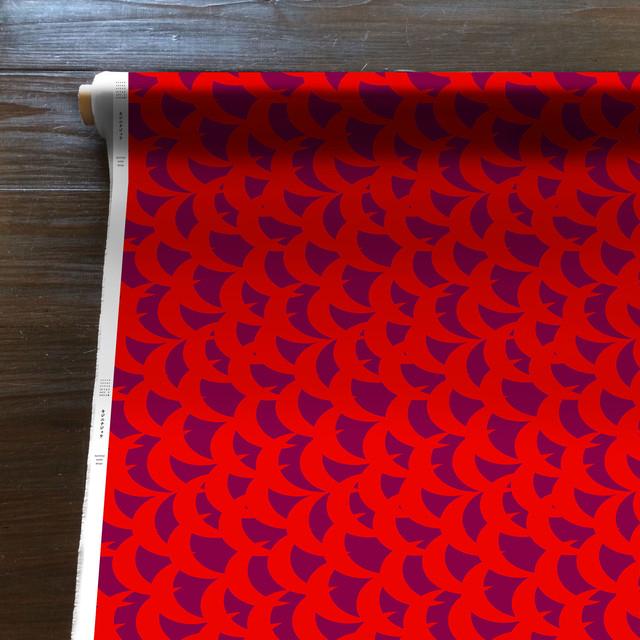 MountainWind(赤紫)[50cm×110cm]cotton