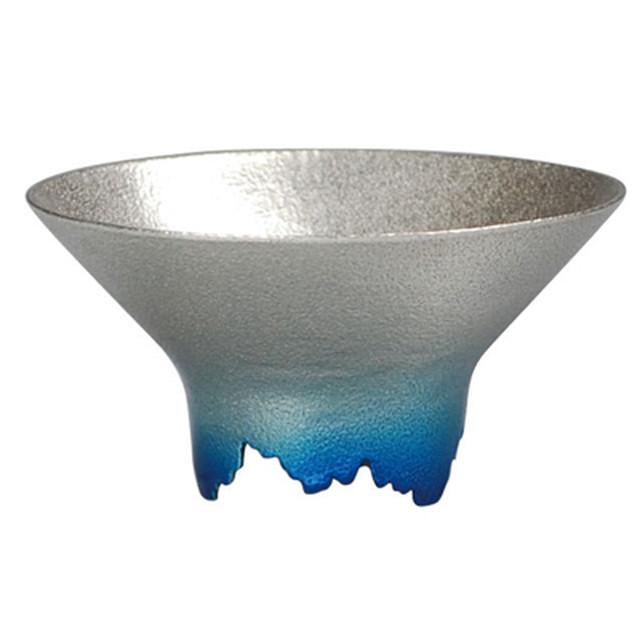 SHIKICOLORS ICEBLUE SAKE CUP(錫の酒器)