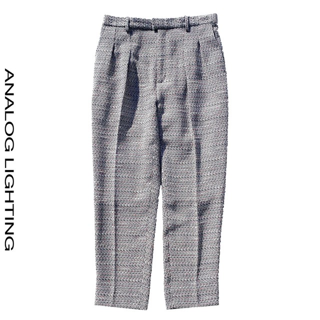 Tuck Pants/MIX TWEED