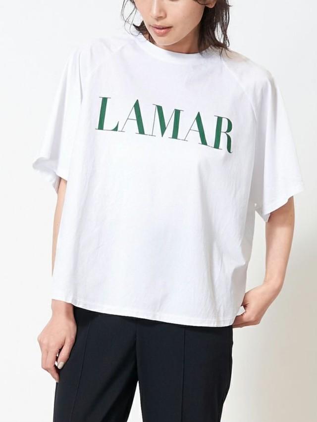 """MICA&DEAL  / """"LAMAR""""ロゴヘムラウンドラグランT-shirts"""