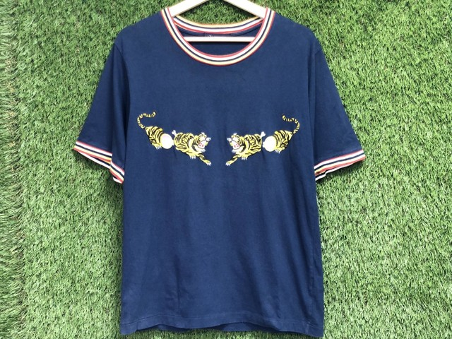 John UNDERCOVER TIGER EMBROIDERY TEE NAVY 2 15JG7360