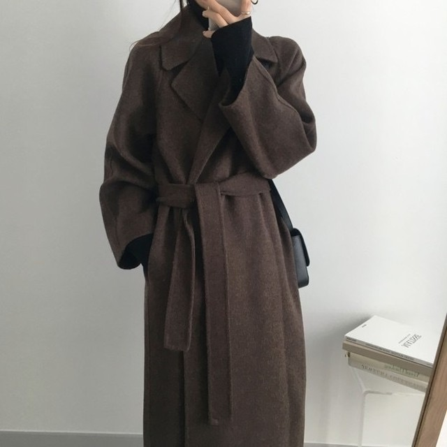 《NO,10》straight long wool coat ZR2341