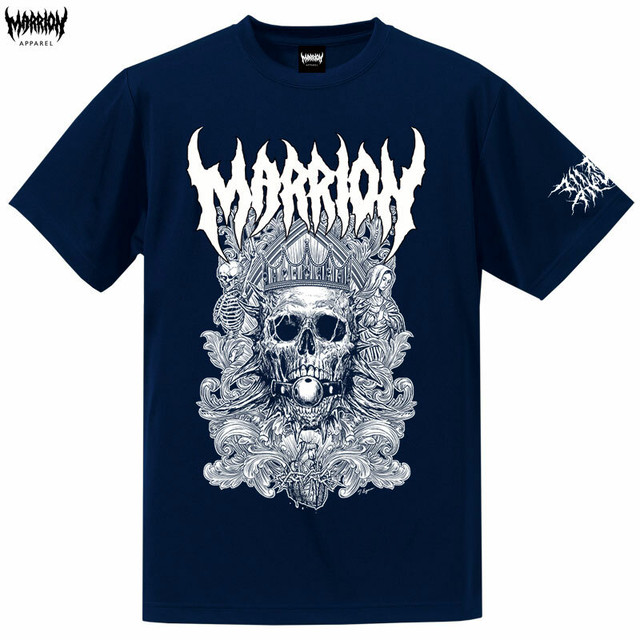 Death Marrion Dry Silky Touch Tee (Navy×White)