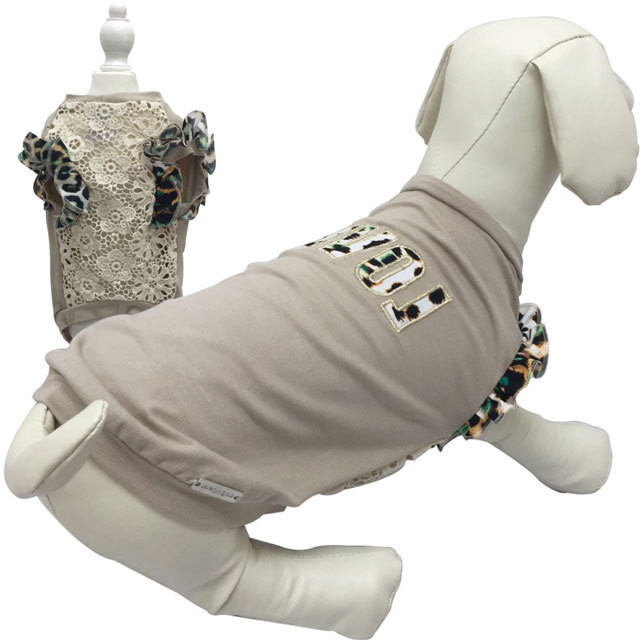 9。Parisdog【正規輸入】犬 服 シャツ ブルー グレー 袖あり 秋 冬物