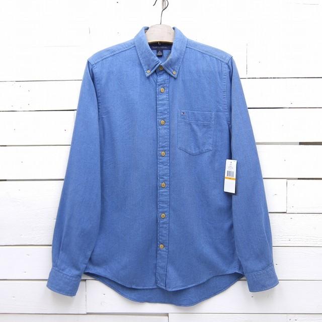 Tommy Hilfiger トミーヒルフィガー SLIM FIT ヘリンボーン ボタンダウンシャツ メンズ Sサイズ タグ付き 未使用品