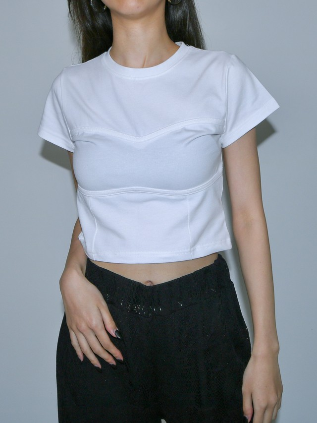 【WOMENS - 1 Size】BUST LINE TEE / 2colors