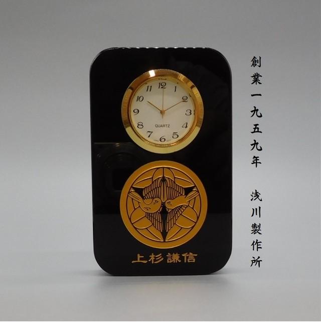 【限定販売】上杉謙信 家紋 匠の黒硝子時計