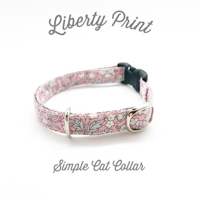 猫 首輪 ピンク 花柄 リバティプリント × Daisy Daisy