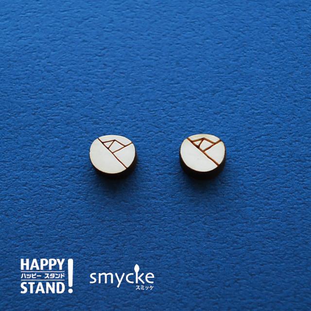 smycke 《フラワー小粒 B》塗り絵 木製パーツ