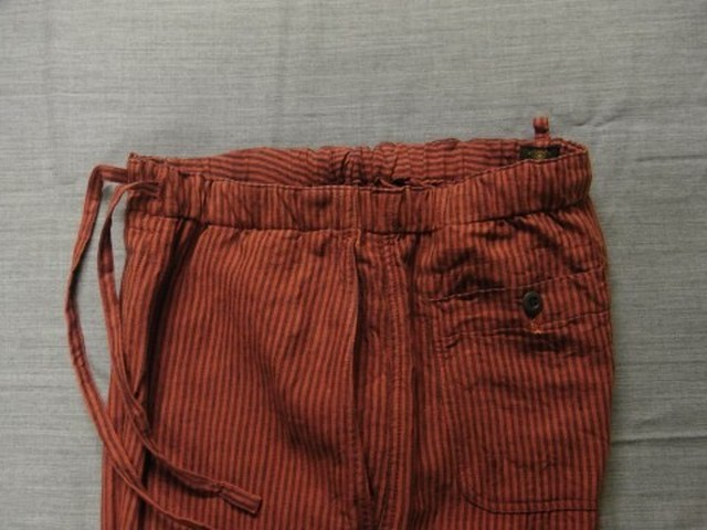 stripelinen easy pants / redstripe