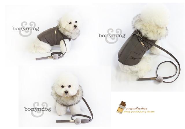 Bonyndog製 Padding harness(ダウンジャケットハーネス)(ココア)