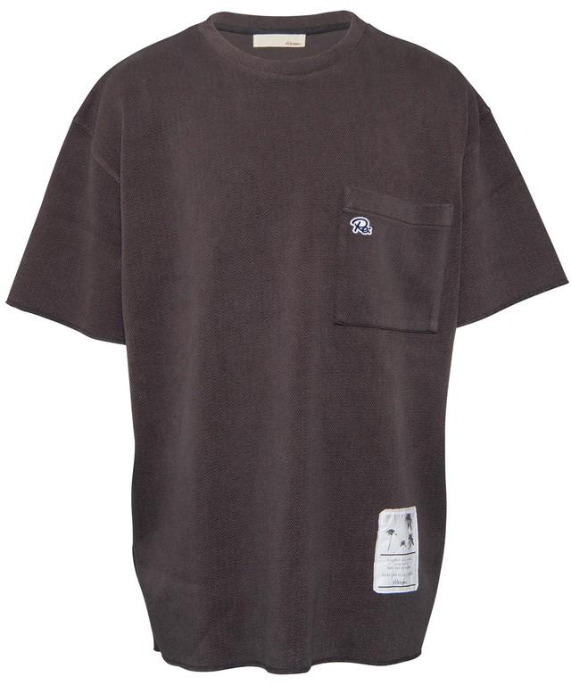 HERRINGBONE PATTERN SWEAT BIG T-shirt[REC269]