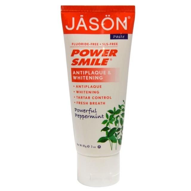 【Jason Natural】フッ素不使用100%植物成分合成保存料不使用歯磨き粉POWER SMILE85g