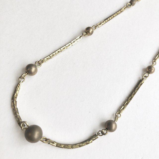 Ball chain short Necklace No.802