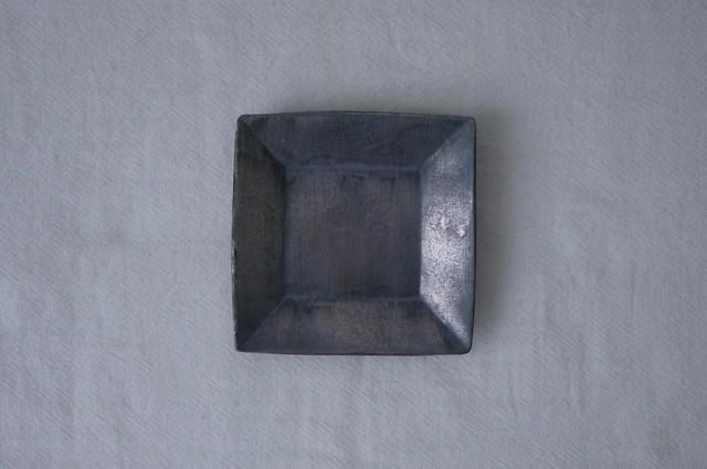 石黒剛一郎 四角小皿(銀彩)