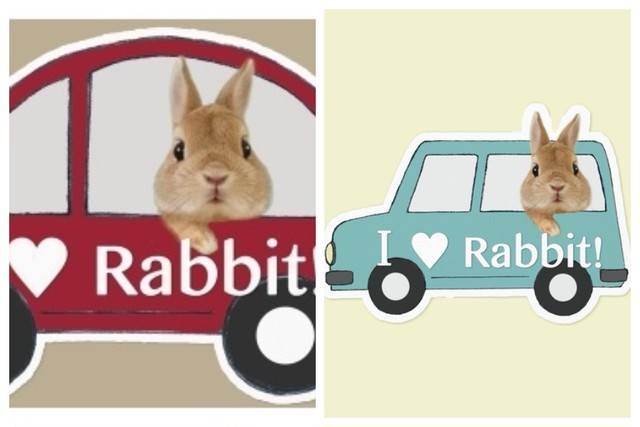 I ♡ Rabbit CAR ステッカー