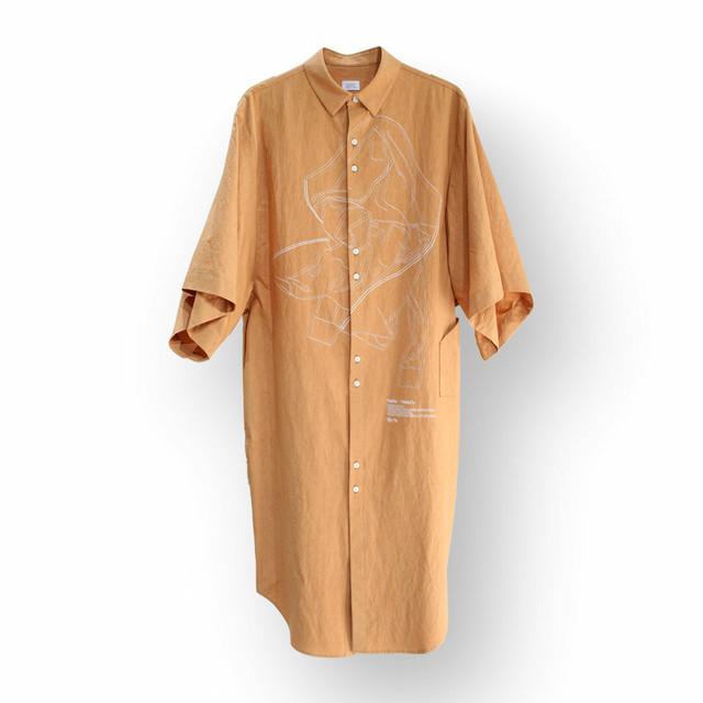 HATRA  Blur Roll Over Shirt ハトラ ブラーロールオーバーシャツ